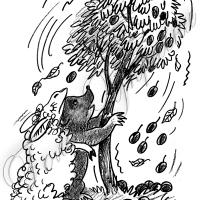 Маля-ведмежа у «камуфляжі»