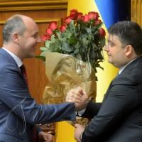 Андрій Парубій — Голова Верховної Ради, Володимир Гройсман — Прем'єр-міністр