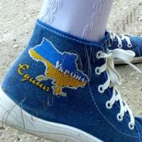 У Криму школярі прийшли на свято з українською символікою
