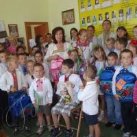 До школи проводжали великою «Українською родиною»