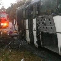 Під час пожежі в автобусі Калуш - Київ пасажири не постраждали