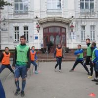 Футбол. Провели показове тренування перед міськрадою