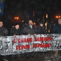 У Кропивницькому вшанували Степана Бандеру