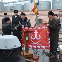 Екіпаж врятованого військового корабля привітали з ювілеєм