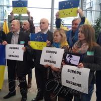 Провели флешмоб на підтримку України
