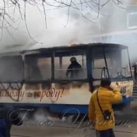 У Запоріжжі смолоскипом горів трамвай