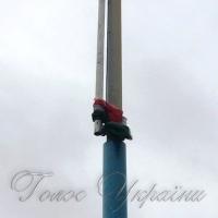 Угорський прапор на околиці Берегового зірвали пориви вітру, а не вандали