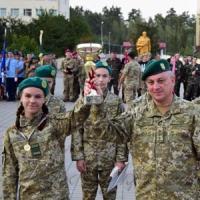 На военной подготовке юные друзья пограничников