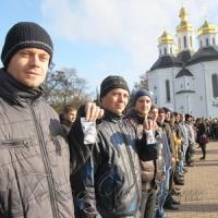 До армії провели біля козацької церкви