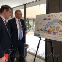 У МЗС Канади відкрито виставку дитячих малюнків...