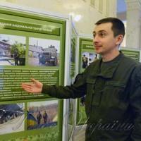Майор Нацгвардії Олександр Ковтонюк у Верховній Раді представляє...