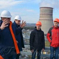 Завершальну екскурсію «Ядерної школи РАЕС» провели на висоті