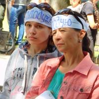 ...у Млинові незгодні з долею гімназії після рішення депутатів оголосили голодування