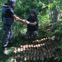 Знайшли і знешкодили 75 снарядів 78-міліметрового калібру...