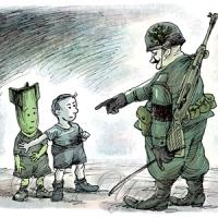 Війна буває дитяча,  до першого вбитого