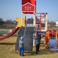 Юным пожарным построили площадку