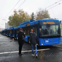 На маршруты вышло семь новых троллейбусов
