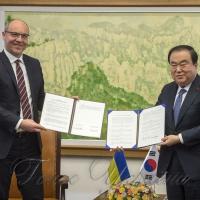 Міжпарламентську співпрацю з Кореєю закріпили в Меморандумі