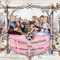 Першу різдвяну листівку  надрукували в Лондоні 1843 року...