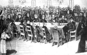 З давньої гравюри: засідає Головна Руська Рада