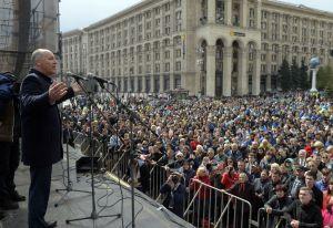 А. Парубій, П. Порошенко взяли участь в акції «Захисти Україну»
