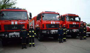 Огнеборцы получили пожарные МАЗы