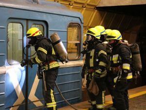 В метро  ликвидировали  пожар