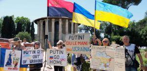 У Римі українці протестували проти візиту Путіна до Італії