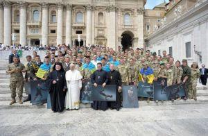 Військові прочани зустрілися з Папою Римським