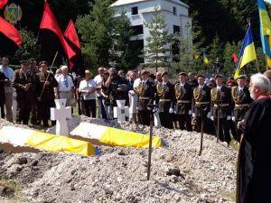 На Львівщині перепоховали останки воїнів Першої української дивізії «Галичина»