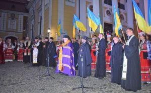 В Ужгороді привітали першими у храмі на світанку