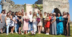 Поженились за сутки на Замковой горе