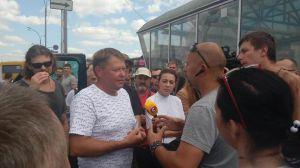 Фронтовики змусили вибачатися перевізника