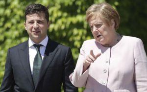 Відбулася  телефонна розмова Володимира Зеленського  з Ангелою Меркель