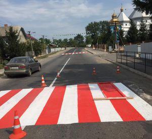 На Прикарпатті оновили пішохідні переходи для безпеки учнів