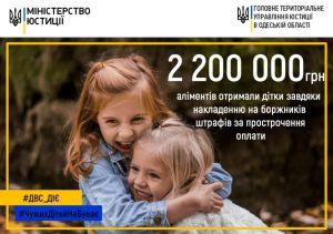 Аліменти перерахували дітям Одещини