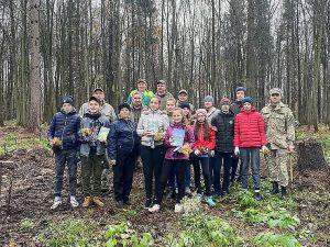 В Заложцевском лесничестве школьники садили лес