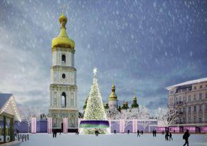 Новогодняя елка в Киеве: европейская классика и народное искусство