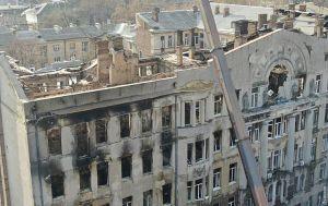 Пожежа в одеському коледжі: пошуково-рятувальні роботи припинено