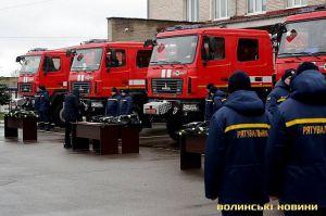 Волынская область: Под елку — спасательные «МАЗы»