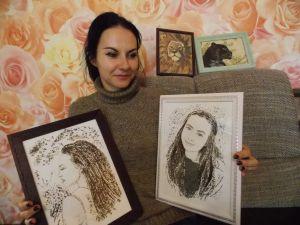 Ірина Дорошенко робить картини... із продуктів
