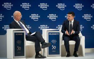 Lo que dijo en Davos el presidente de Ucrania