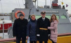Офіцера Владислава Костишина привітали батьки та сестра