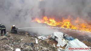 Чому горить сміттєзвалище у Житомирі?