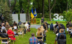 Президент Володимир Зеленський: «Я чесна, порядна людина, яка «хворіє» цією країною»