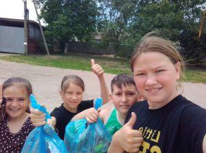 В Беляевке пятиклассница организовала субботник