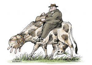 Чи може п'яний чиновник впливати на вартість молока