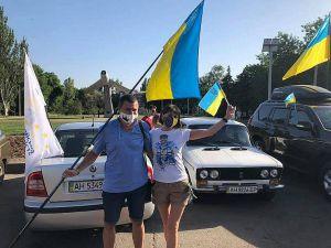 Донеччина: Автопробіг на вшанування подвигу визволителів