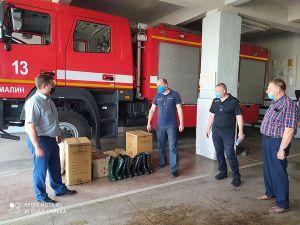 Пожарные Малинского района получили новое оборудование