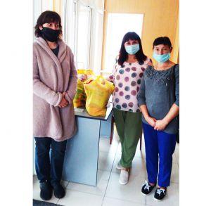В Лубнах многодетным семьям передали продуктовые наборы